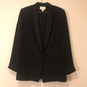 H&M Conscious Black Split Sleeve Blazer Jacket 6 S